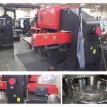 (3) 33 Ton Amada Pega 345 Queen CNC Turret Punch